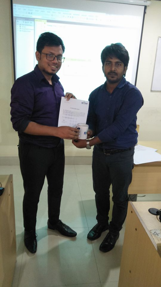 Student of batch certificate receiving time from BITM
